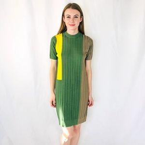 Kerisma Color Block Ribbed Mini Dress Knit M 0220